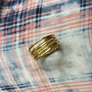NWOT Gold 7 Layer Ring - Size 8
